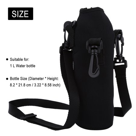 Fosa Outdoor Sports Water Bottle 1L Thermal Holder Bag Scald-Proof Case Cover Sleeve with Strap,Water Bottle Case,Water Bottle Sleeve ()