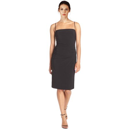 Laundry by Shelli Segal Jersey Spaghetti Strap Ruched Cutout Back Cocktail Dress