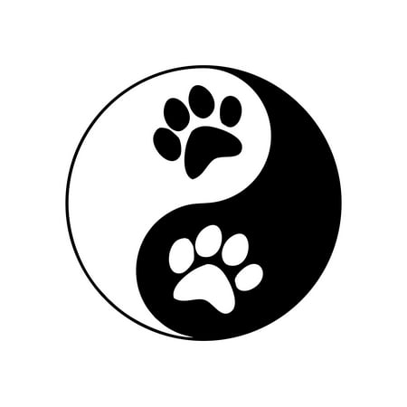 Yin Yang Symbol With Dog Paws - 4