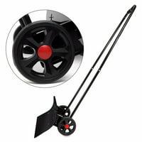 XtremepowerUS Bi-Directional Wheeled Snow Shovel Pusher Adjustable Angle