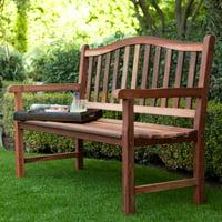 Belham Living Richmond Curved-Back 4-ft. Outdoor Wood Bench