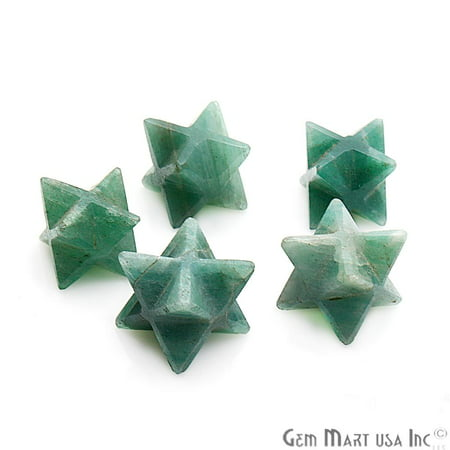 - Green Aventurine Merkaba Star Octahedron Metaphysical Crystal Reiki Healing Gemstone