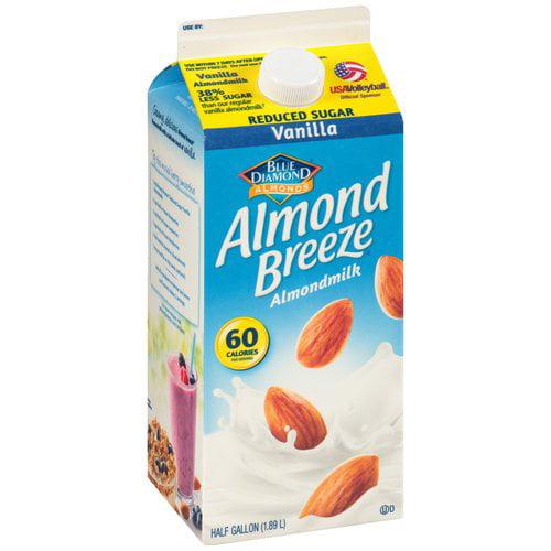 Blue Diamond Almond Breeze Reduced Sugar Vanilla Almondmilk, 0.5 gal