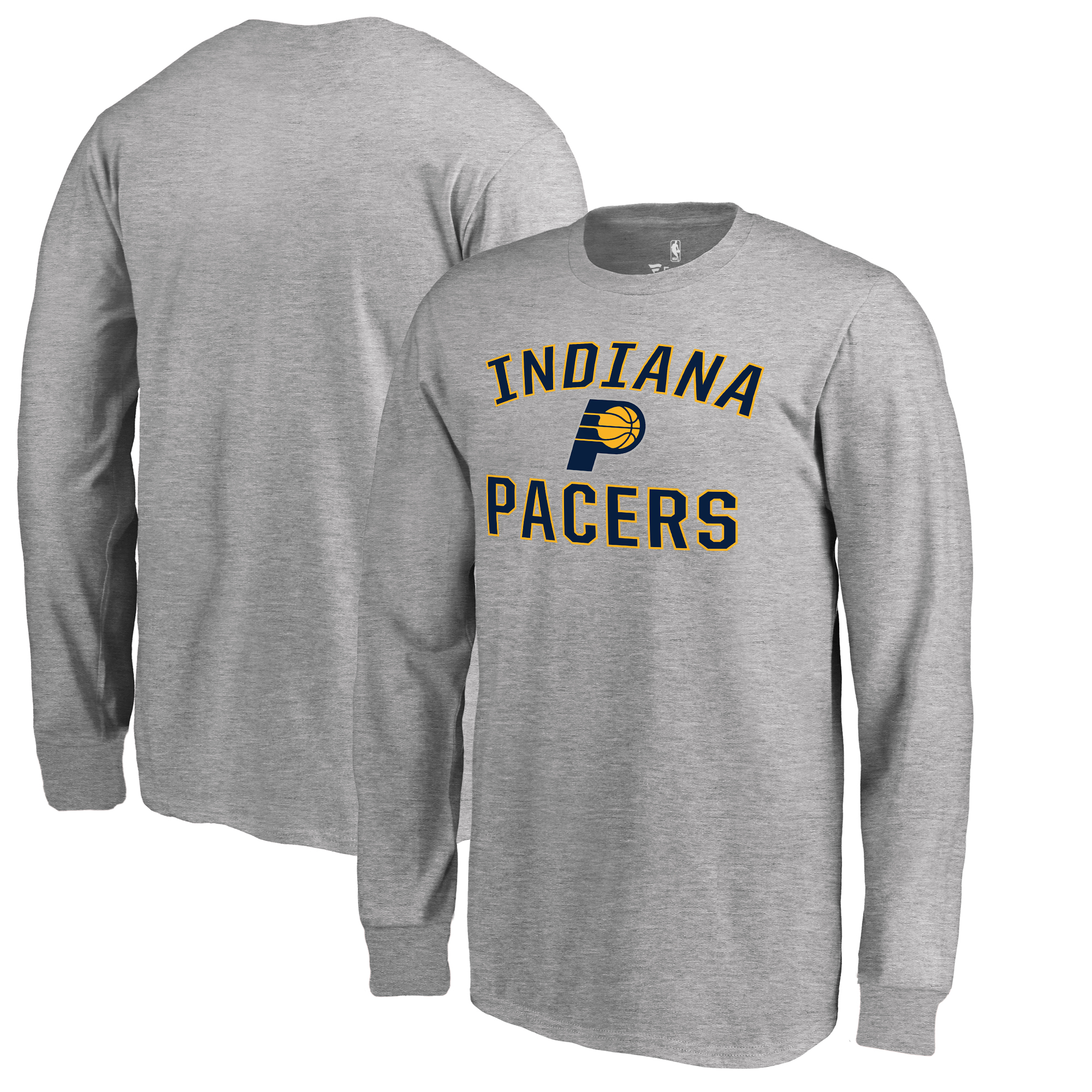 Indiana Pacers Fanatics Branded Youth Victory Arch Long Sleeve T-Shirt - Heathered Gray