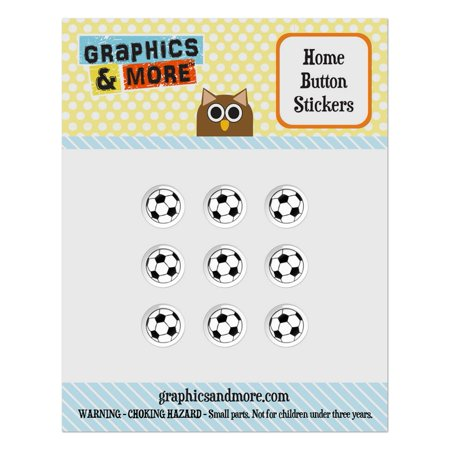 Cartoon Soccer Ball Football Home Button Stickers Set Fit Apple iPhone iPad iPod Touch](Football Buttons)