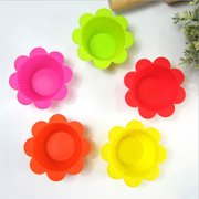Jeobest 10PCS Silicone Cupcake Liners Mini - Silicone Cupcake Baking Muffin Cups Liners Mold - Premium Silicone Mini Cupcake Holders Cupcake Muffin Liners Perfect for Baking Dessert MZ