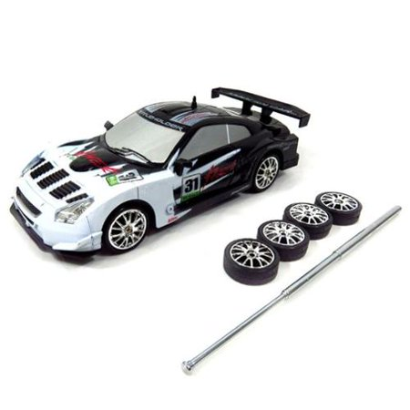 1:24 Super Fast RC Drift Race Car Radio Control - White RC Car R/C Car Radio Controlled Car (Car Rc Drift 1 10)