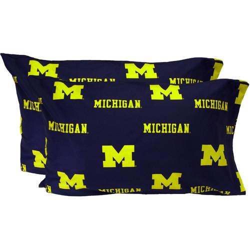 College Covers Collegiate NCAA Michigan Wolverines Pillowcase (Set of 2)