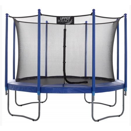 Upper Bounce Easy Assemble High Quality 10 Foot Trampoline and Enclosure Set