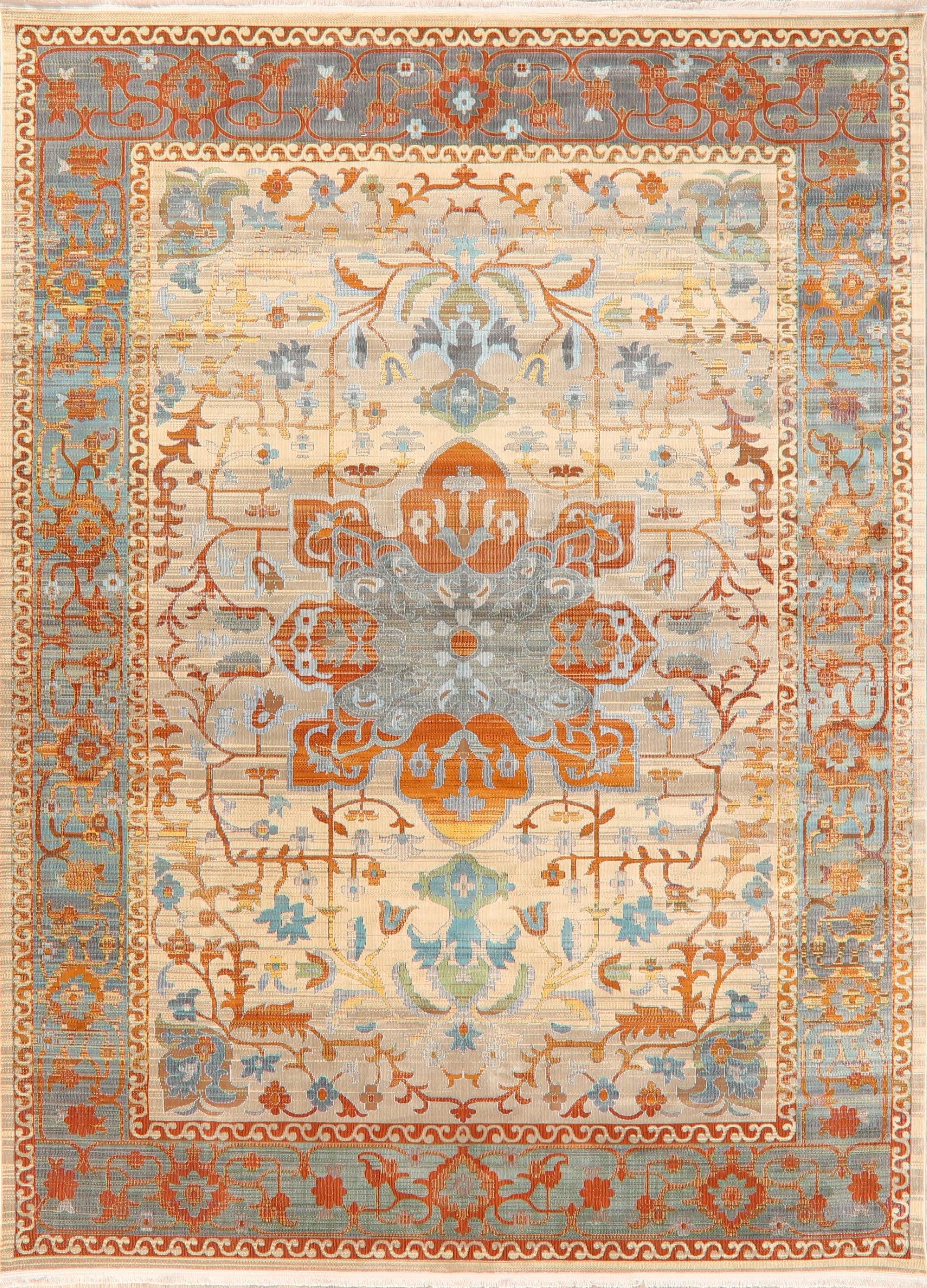 Vintage Style Traditional Geometric Distressed Heat Set Area Rug Oriental Carpet 10 X 14 Walmart Com Walmart Com