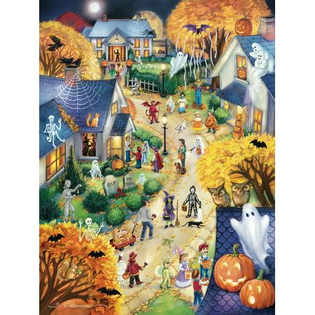 Vermont Christmas Company Halloween Town - 550 Piece Jigsaw Puzzle - Puffles De Halloween