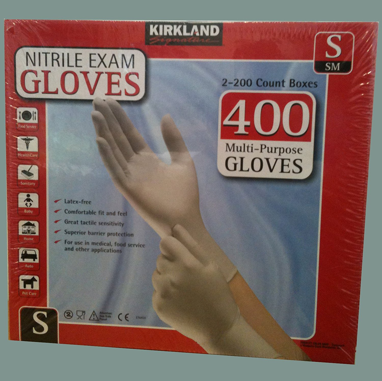 Nitrile Exam 400 Multi-Purpose Gloves Small, Each Nitrile...