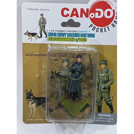 Can.Do/Dragon Pocket Army MG42 Heavy Machine Gun Team w/Dogs 1/35 Scale Model Figure B](Toy Army Guns)