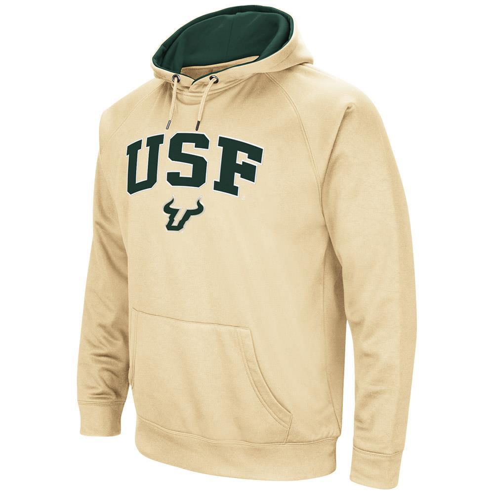 Mens NCAA USF Bulls Fleece Pull-over Hoodie by Colosseum