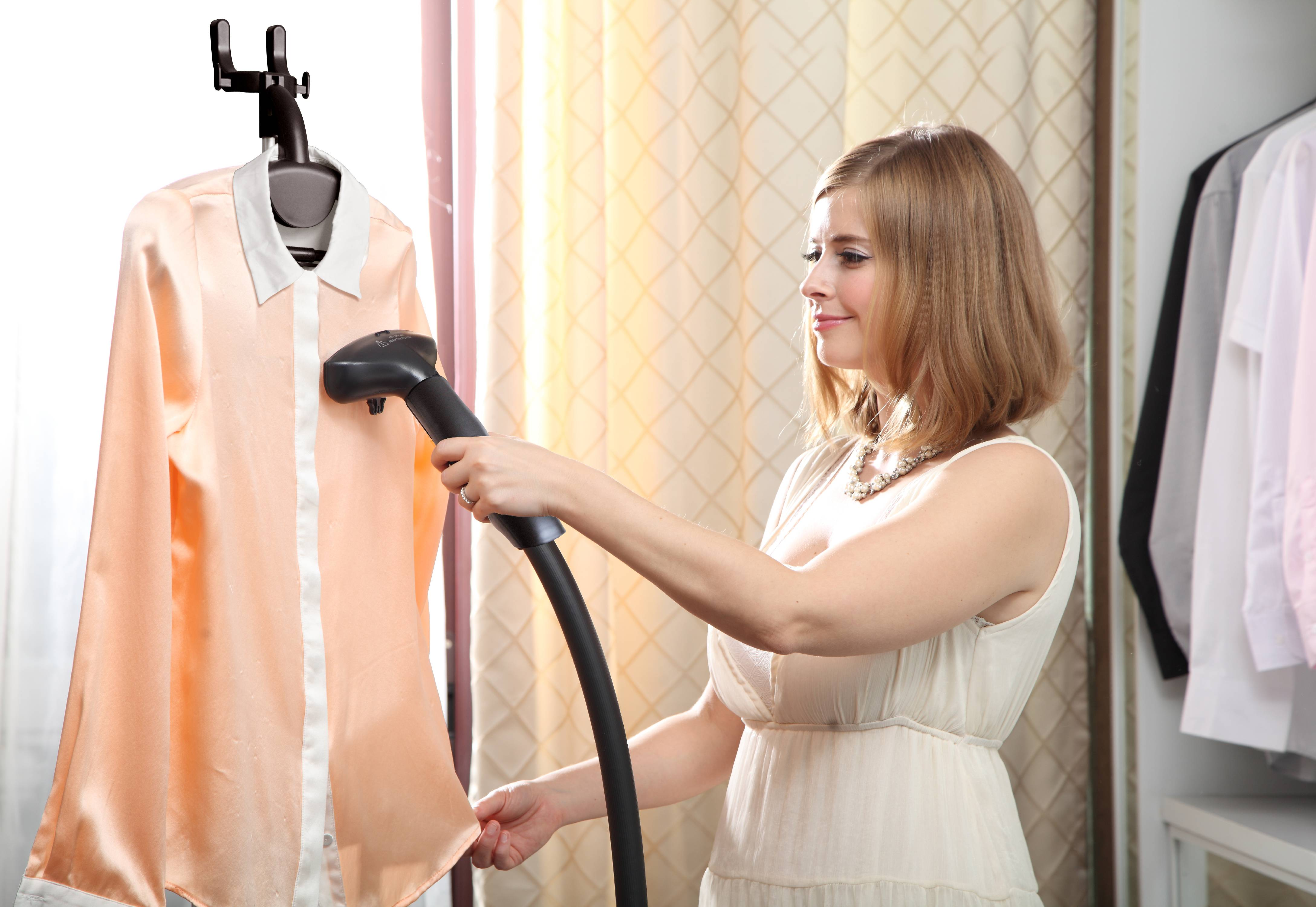 Click here to buy SALAV GS18-DJ 120 Performance Series Garment Steamer, White by Salav.