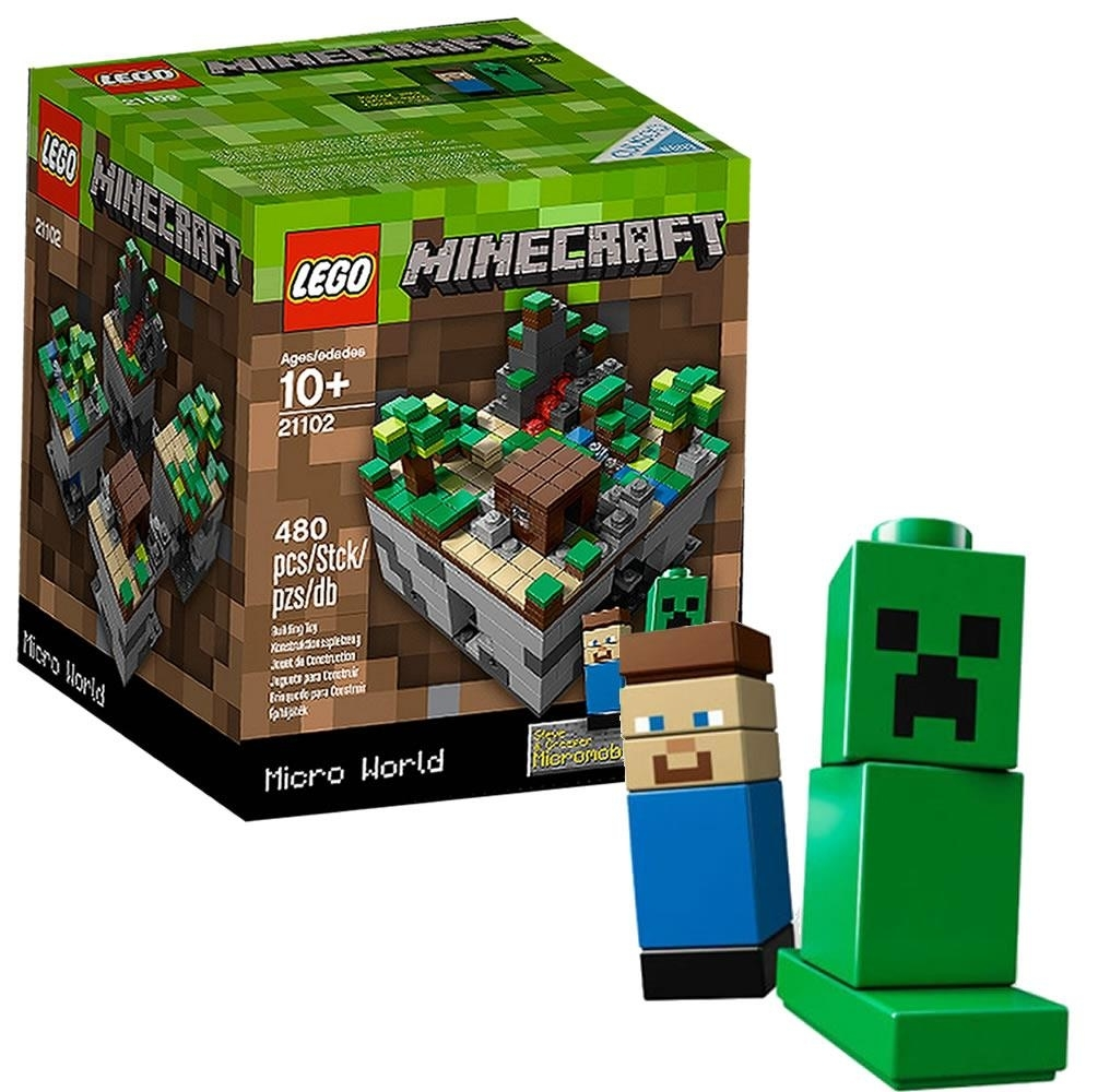 LEGO CUUSOO Minecraft Micro World: The First Night 21102 Steve Creeper Build Toy