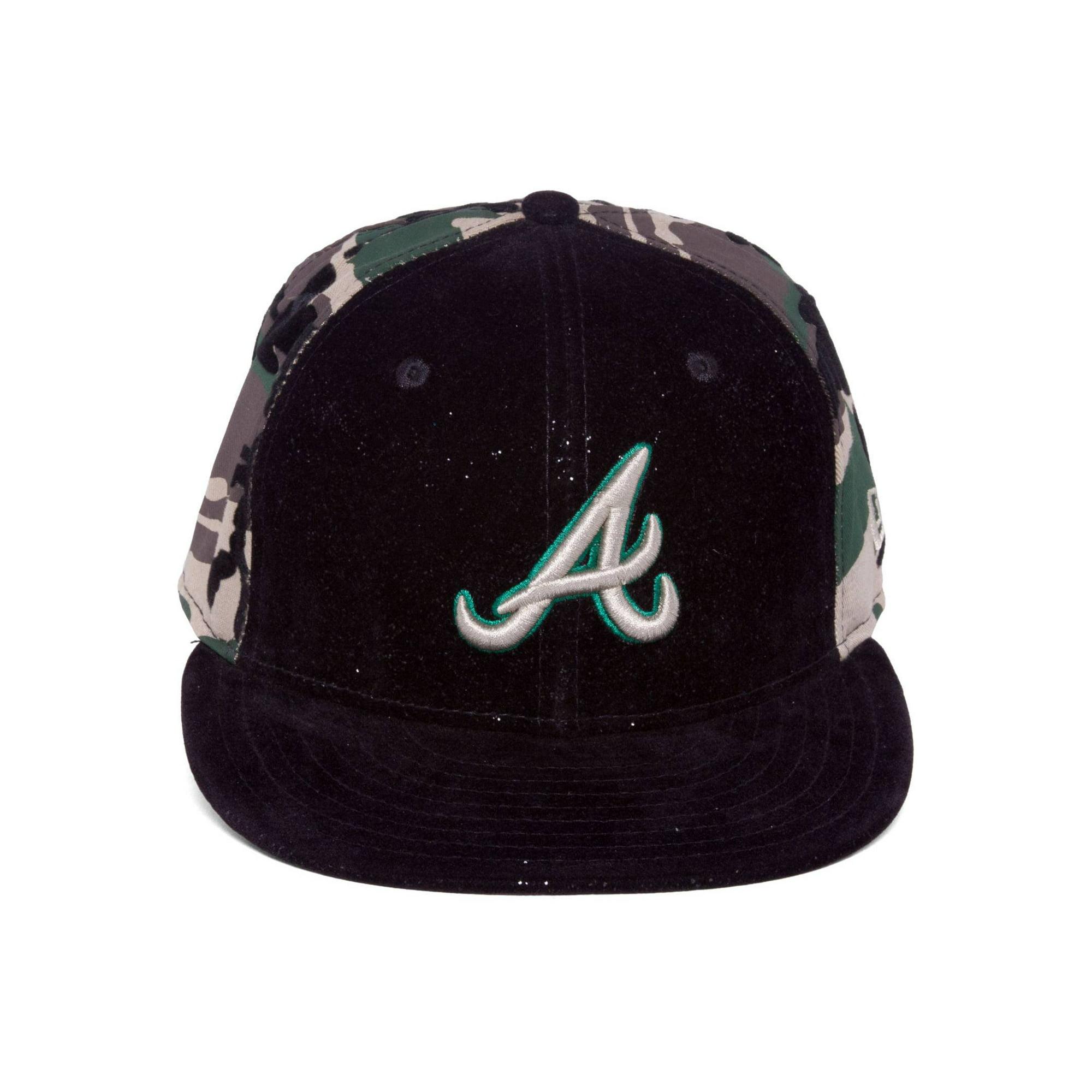 8a372ac4a Atlanta Braves Fitted New Era Custom Hat Cap - Black/Camo 7