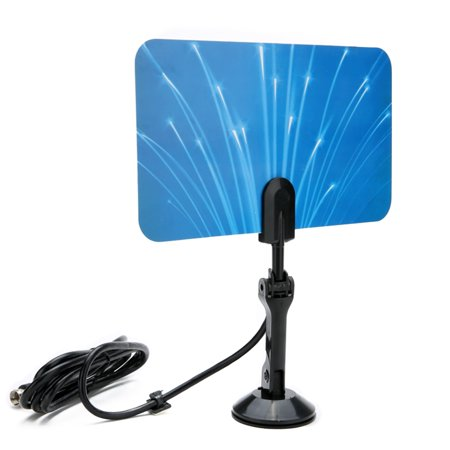 Digital Indoor TV Antenna HDTV DTV Box Ready HD VHF UHF Flat Design
