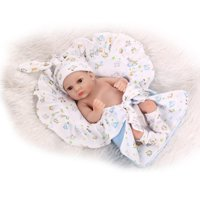 Baby Doll Girl Play Dolls 10inch 25cm Full Vinvl Body Washable With Quilt Lifelike Cute Gifts Toy Pink