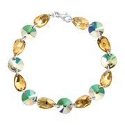 Luminesse Multi-Link Bracelet with Iridescent Swarovski Crystals in Sterling Silver