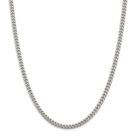 Sterling Silver 5mm Domed Curb Chain Necklace or Bracelet Dome Sterling Silver Necklace