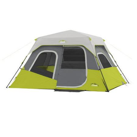 - Core Equipment 11' x 9' Instant Cabin Tent, Sleeps 6