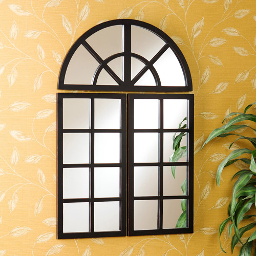 Southern Enterprises 3-Piece Windowpane Mirror