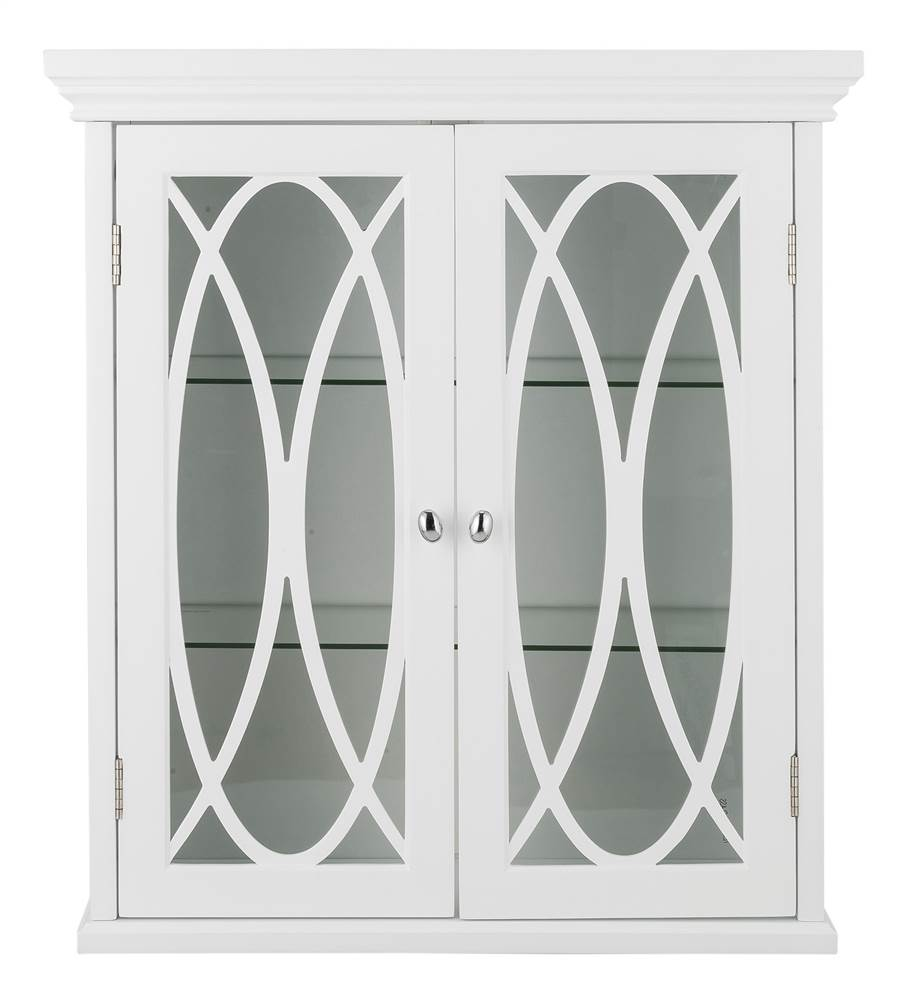 2-Doors Wall Cabinet in White