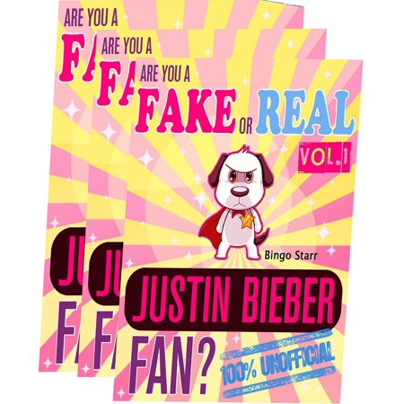 Are You a Fake or Real Justin Bieber Fan? Bundle Version: Red and Yellow  and Blue - The 100% Unofficial Quiz and Facts Trivia Travel Set Game - eBook