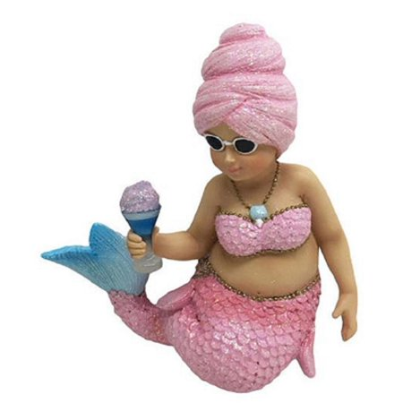 December Diamonds Miss Cotton Candy Pink  Mermaid Christmas Ornament 5555059 New