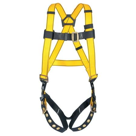Navy//Yellow Renewed 3M DBI-SALA Delta 1102000 Vest Style Harness Tongue Buckle Leg Straps Back D-Ring Universal