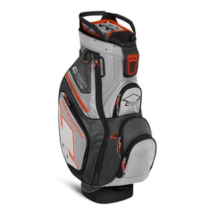 sun mountain 2016 c 130 cart bag titanium gun orange no logo