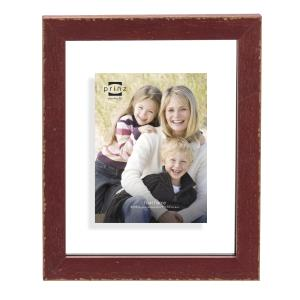 8x10 Bristol Distressed Red Wood Float Frame