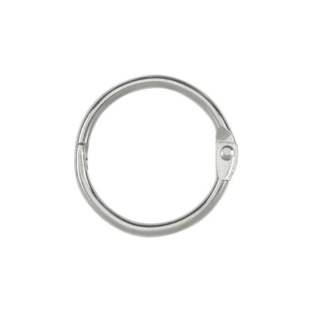 ACCO Loose Leaf Binder Rings,1 Inch Capacity,Silver,100 Rings/Box(A7072202)