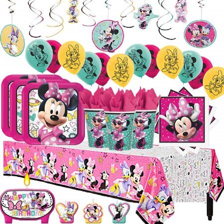 Minnie Mouse Mega Birthday Party Pack for 16 (Best Minnie Mouse Party)
