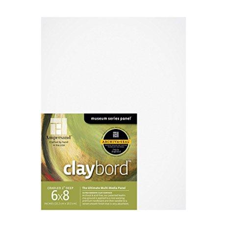 AMPERSAND ART SUPPLY CBSWC06 CLAYBORD DEEP 2 INCH CRADLED 6X8