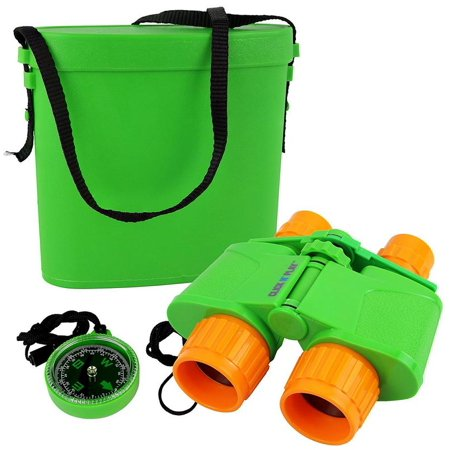 Click N' Play Nature and Wildlife Exploration Binocular Set with Case and