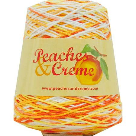 - Peaches & Creme Cotton Cone Creamsicle Ombre Yarn, 14 Oz.