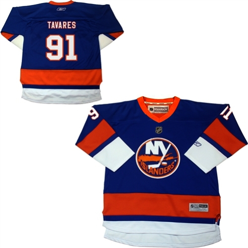 John Tavares New York Islanders Reebok Youth Replica Player Hockey Jersey Navy Blue - by Outerstuff