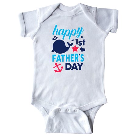 Nautical Themed Happy 1st Father's Day Infant Creeper (Infant Theme Ideas)