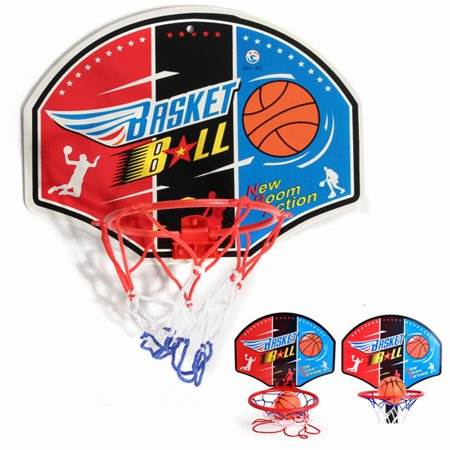 - 4 Types Mini Backboard Hoop Net Set Basketball System With Basketball Sporty Game Toy Gift For Kids Children(Model Random)