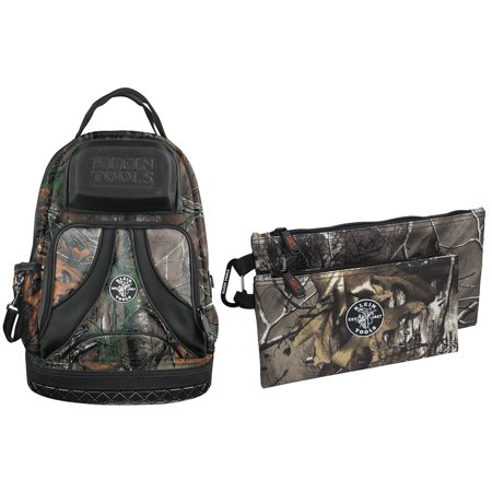 - [Buy Together and Save 15%] 55421BP14CAMO Tradesman Pro Camo Backpack and Klein Tools 55560 Camo Zipper Bags, 2 Pack