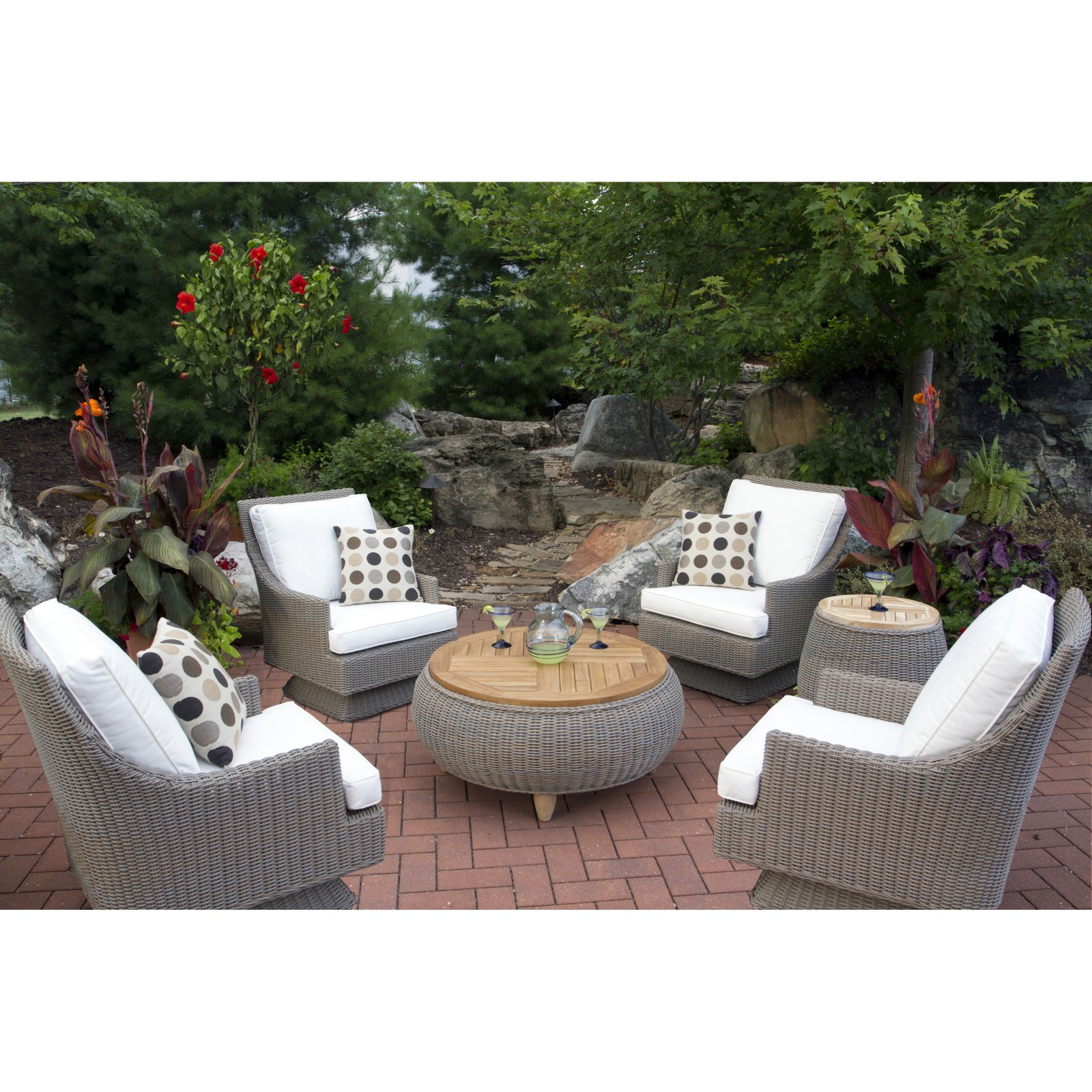 Padma's Plantation Cayman Islands 7 Piece Patio Conversat...