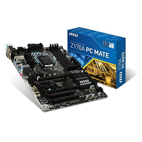 MSI Desktop Motherboard - Intel Z170 Chipset - Socket H4 LGA-1151 Z170A PC MATE