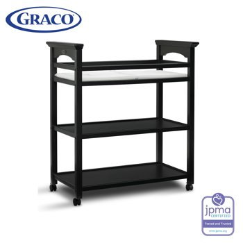Graco Lauren Changing Table with Water-resistant Pad and Safety Straps