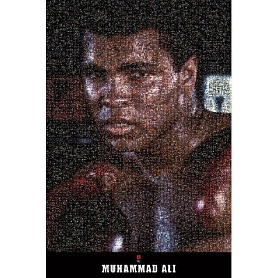 Muhammad Ali Poster - Mosaic - Boxing New (Muhammad Ali Boxing Pictures)