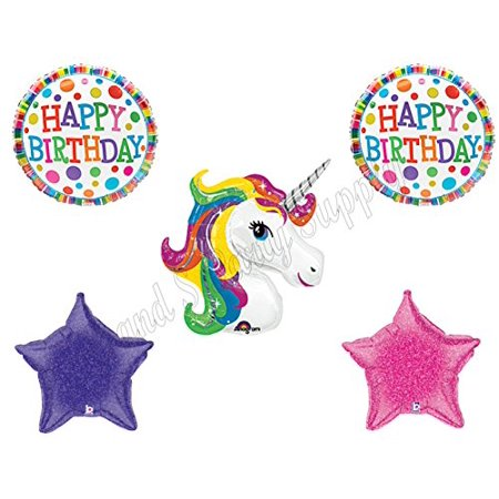 UNICORN RAINBOW BIRTHDAY GIRL Birthday Balloons Decoration Supplies Party Pink](Girls Party Supplies)
