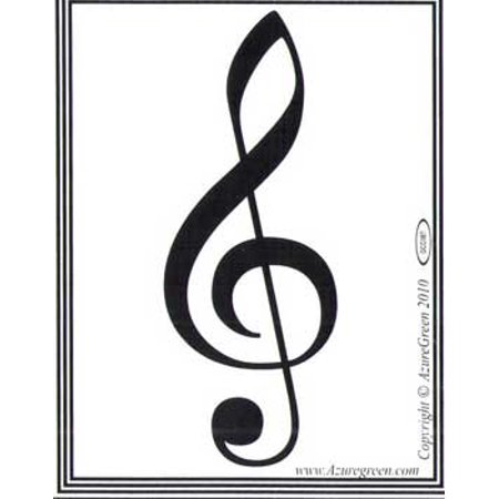 Novelty Amusement Toys Bumper Stickers Treble Clef Musical Note](Musical Note Cutouts)