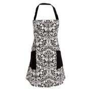 100% Cotton Machine Washable Kitchen Baking Apron with 2 Pockets Black School Renew