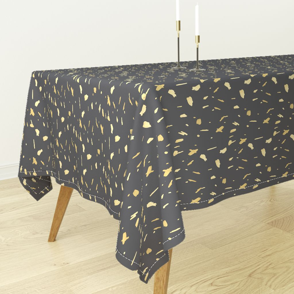 Tablecloth Gold Paint Gold Blobs Gold And Gray Paint Blobs Gold Cotton  Sateen